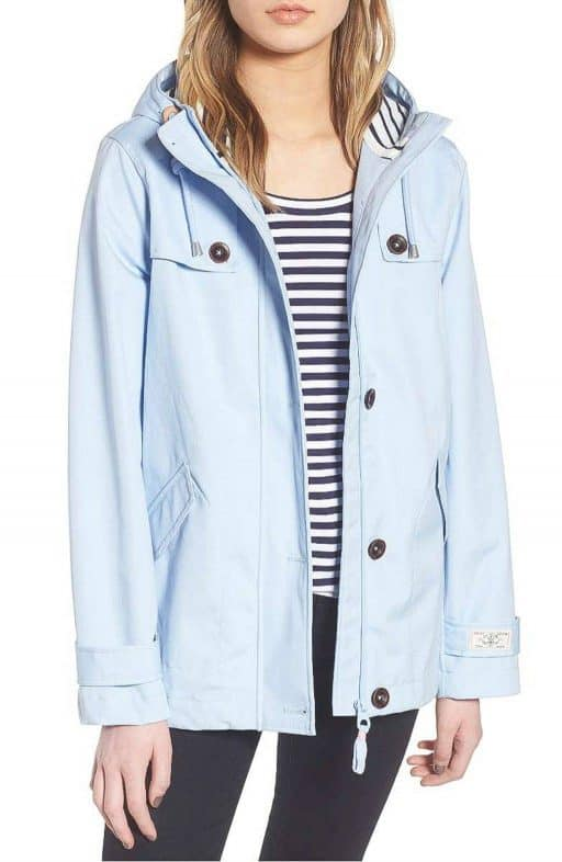 Spring Summer Light Blue Raincoat
