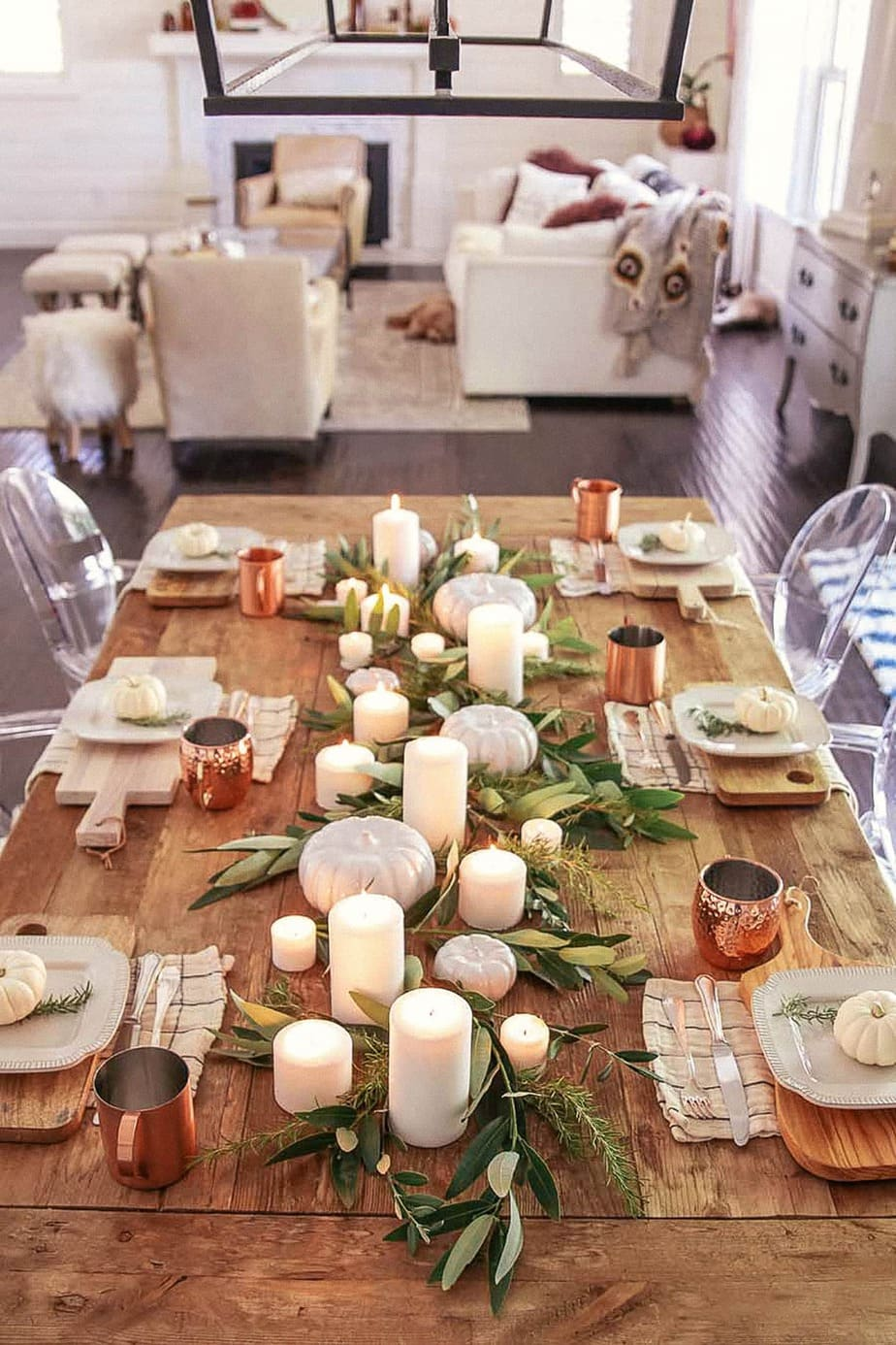 15 Simple & Elegant Fall Tablescapes | Neutral Fall Table ...