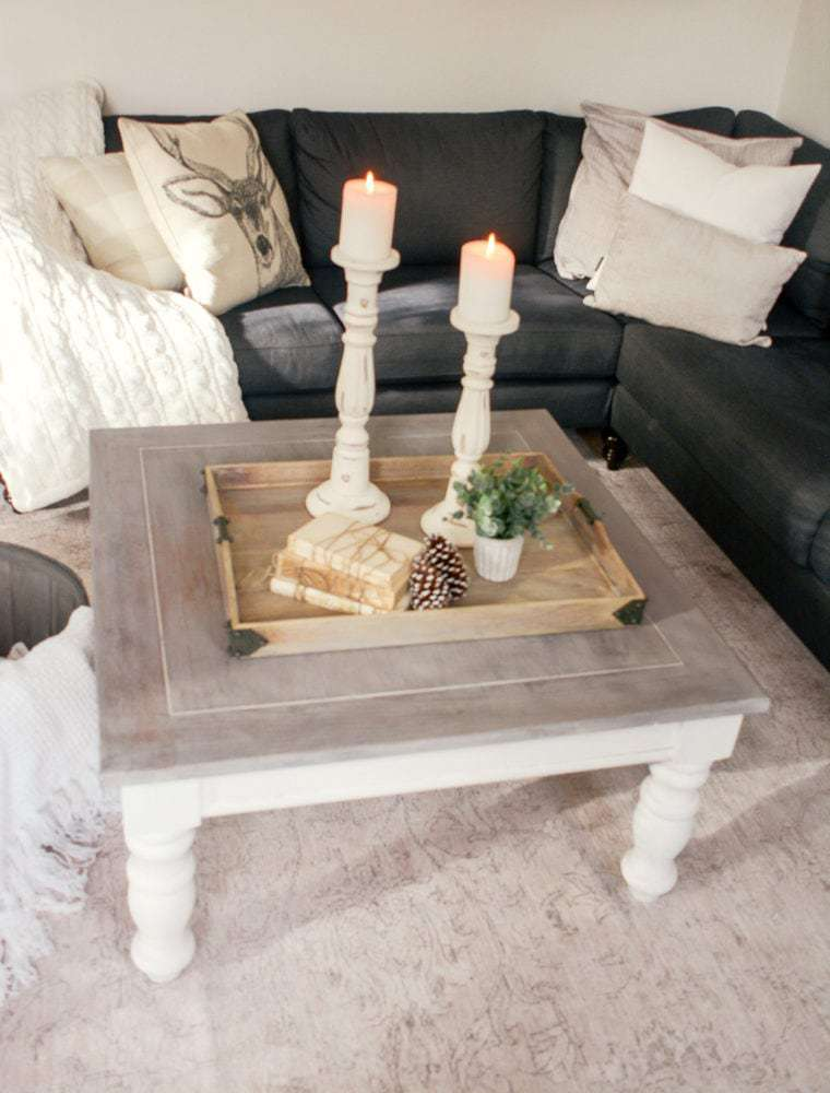 DIY Farmhouse Coffee Table: Facebook Marketplace Finds