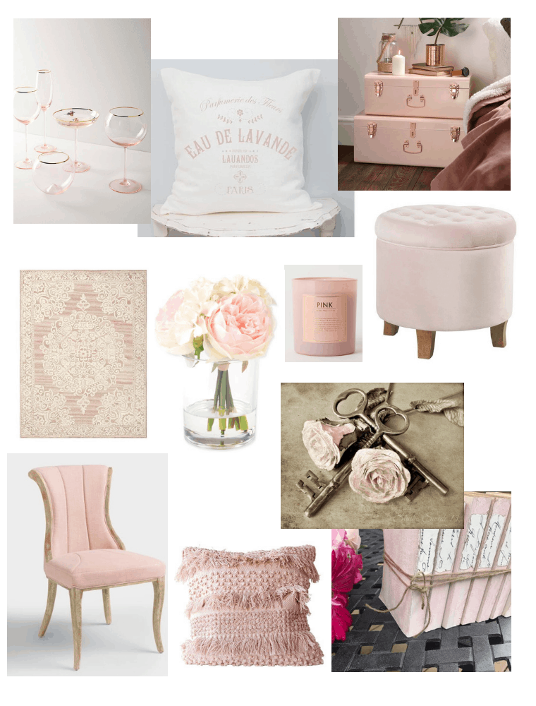 French Country Blush Decor