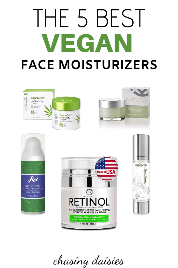 The best vegan face moisturizer and cheap vegan face moisturizer products / vegan moisturizer with SPF