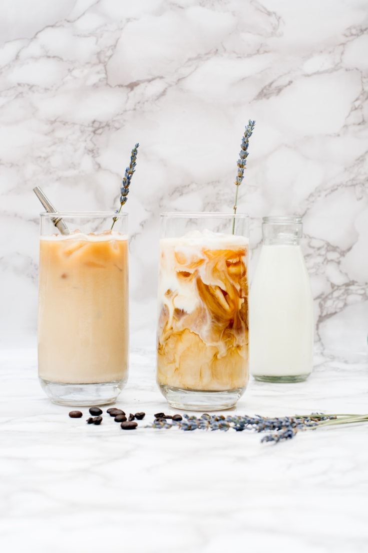 This is one of my favorite DIY iced coffee recipes out there! Coffee recipes (iced) are super varied, but this DIY iced coffee recipe uses delicious herbs.