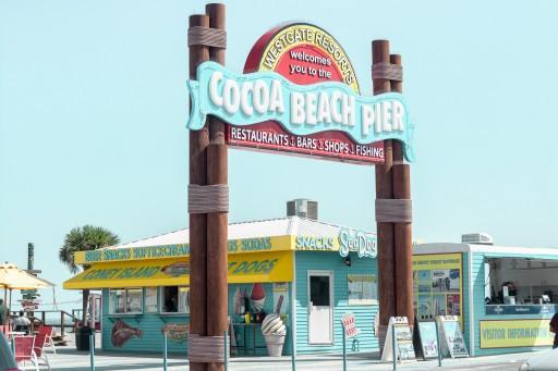 cocoa beach pier parking, cocoa beach webcam, cocoa beach boardwalk shops