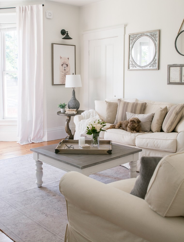 White Living Room Reveal With Raymour & Flanigan