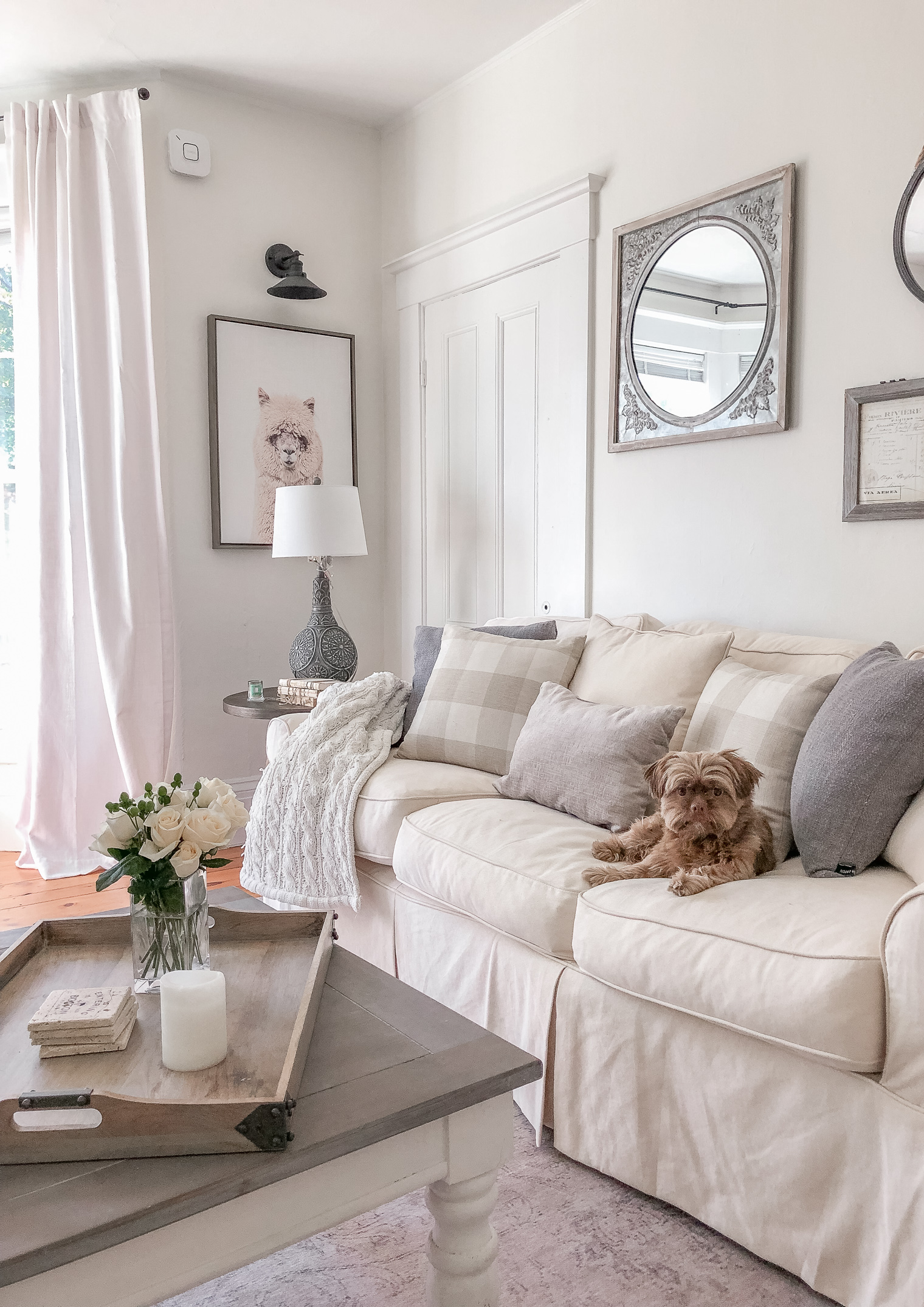 White Living Room Reveal With Raymour