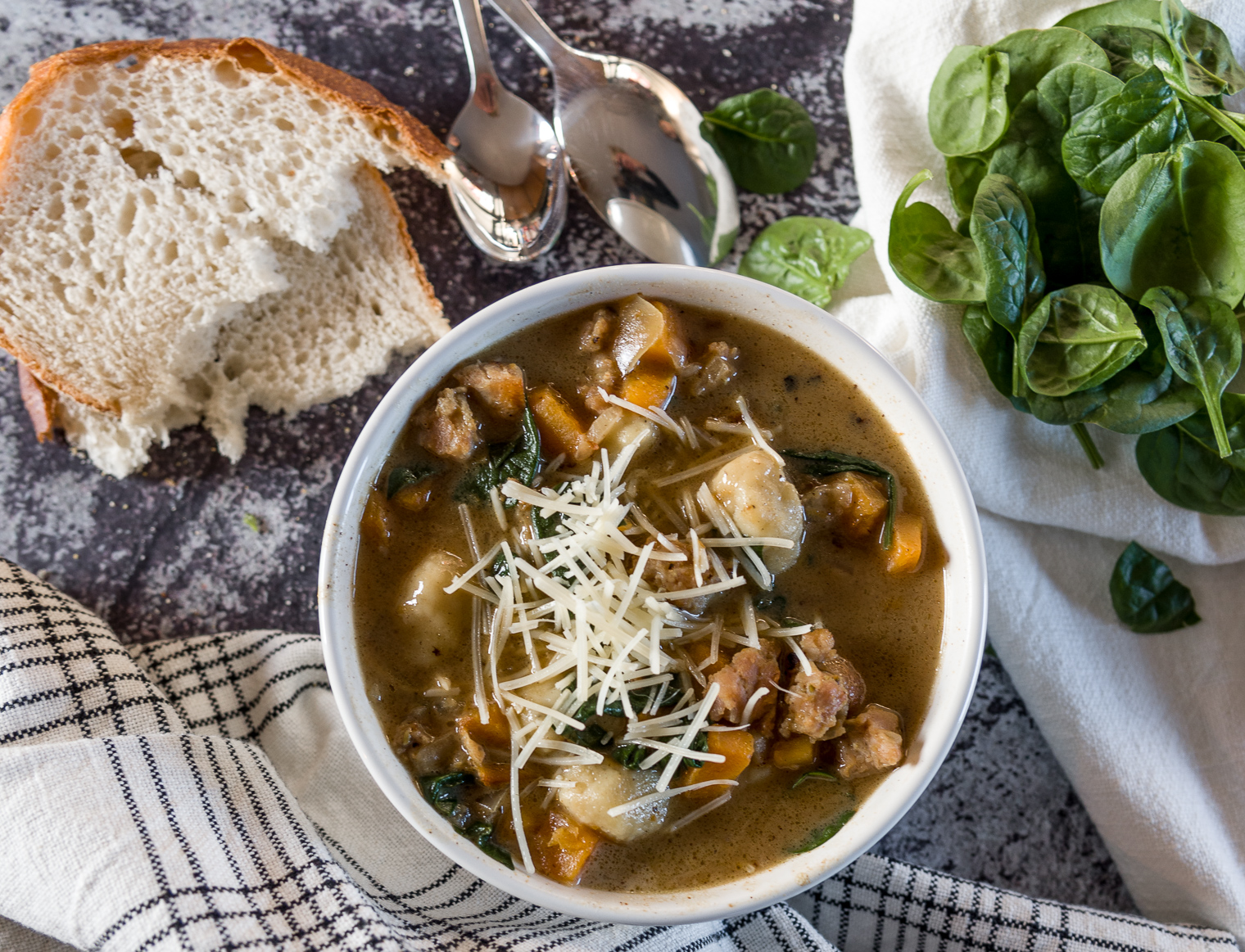 chicken and sausage gnocchi soup