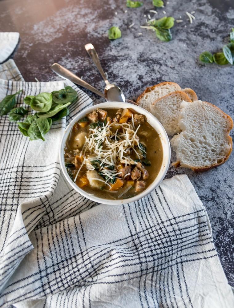Italian Chicken and Sausage Gnocchi Soup