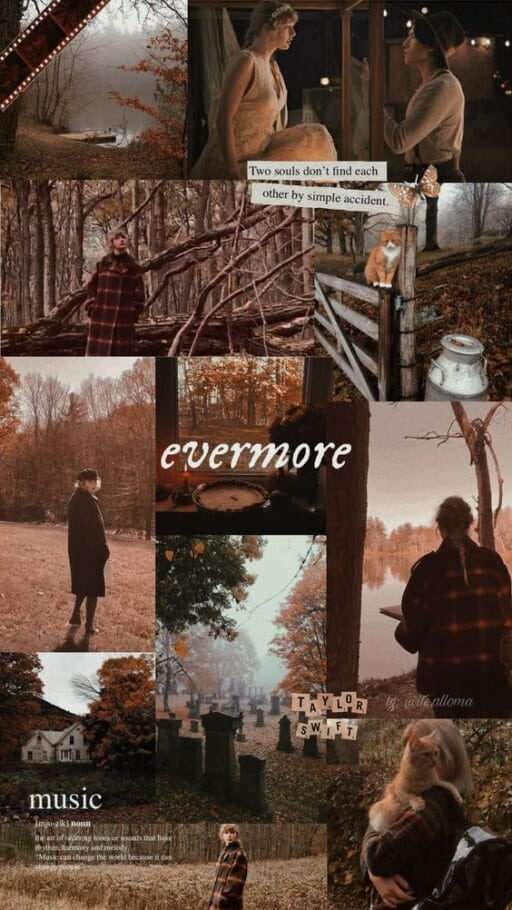 taylor swift wallpaper: evermore and folklore aesthetic