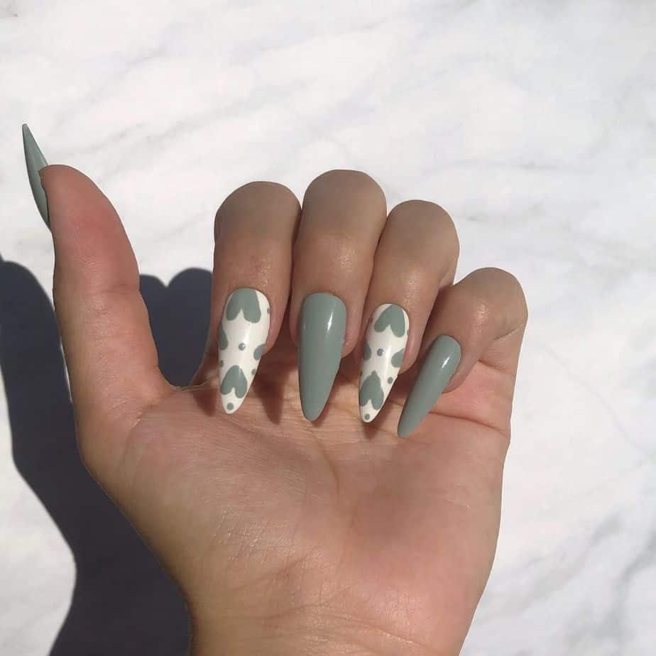 sage green nail inspo