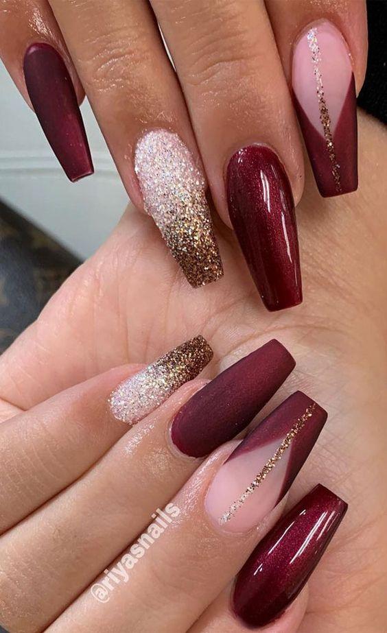burgundy nails and burgundy nails designs