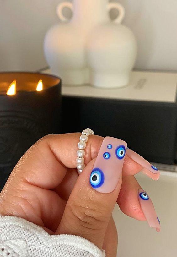 evil eye nails