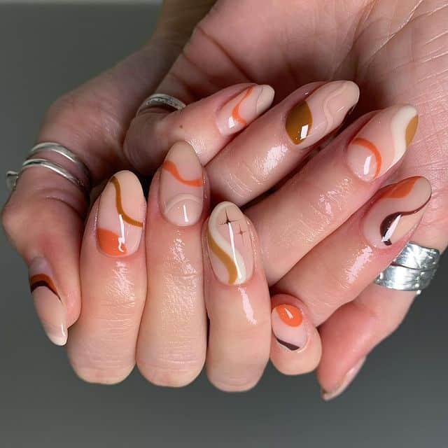 november nails and thanksgiving nails