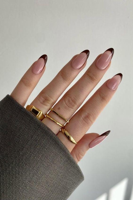 brown nails